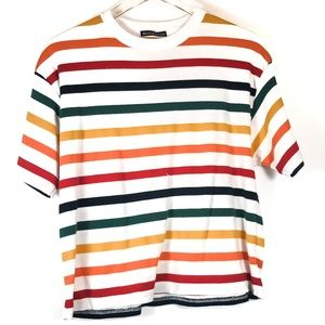SOLD - Brandy Melville Rainbow Striped T-Shirt